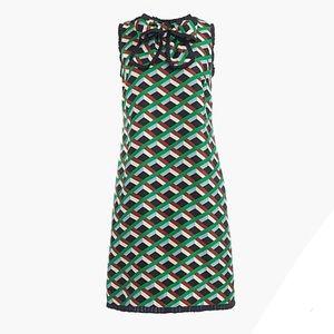 J. Crew Dresses - NWT J. Crew Silk dress in Ratti graphic diamond